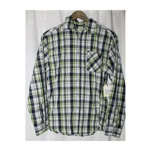Boys Green and Blue Faded Glory Button Down
